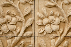 Flower carving decorated Stock Photography
