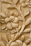 Flower carving decorated Stock Images