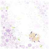 Flower and cat background Royalty Free Stock Images