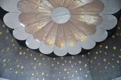 Flower ceiling. The decoration of the golden leaves and flower shape on ceiling Stock Photography