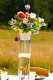 Flower Center Piece at Wedding Reception Royalty Free Stock Photography