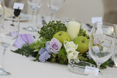 Centerpiece. Flower centerpiece for wedding table Stock Photo
