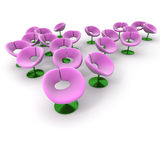 Flower chairs Royalty Free Stock Photo