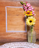 Flower and Chalk Outline Background Royalty Free Stock Photo
