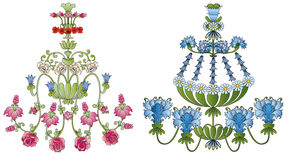 Flower chandeliers Royalty Free Stock Image