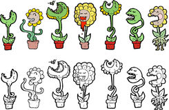 Flower characters Royalty Free Stock Photos