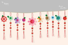 Flower Chinese effect colorful hang horizontal Royalty Free Stock Photo