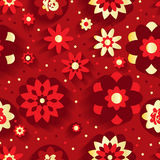 Flower Chinese New Year seamless pattern Stock Images