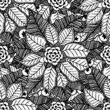 Flower Christmas texture seamless Royalty Free Stock Image