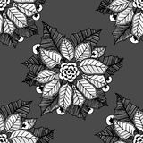 Flower Christmas texture seamless Stock Images