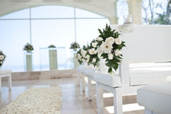 Flower in church Stock Photo