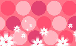 Flower and circle background Stock Photo