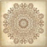 Flower circle design on grunge background Royalty Free Stock Photos