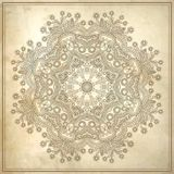 Flower circle design on grunge background with Royalty Free Stock Photo