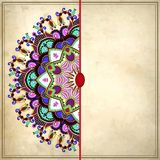Flower circle design on grunge background with Stock Image