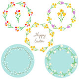 Flower circle easter frames Royalty Free Stock Photo