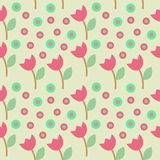 Flower Circle Seamleaa Pattern Stock Photos