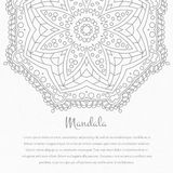 Flower circular background. A stylized drawing. Mandala. Stylized lace ornament. Indian floral ornament. Stock Images