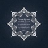Flower circular background. A stylized drawing. Mandala. Stylized lace ornament. Indian floral ornament. Royalty Free Stock Photography