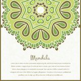 Flower circular background. A stylized drawing. Mandala. Vintage decorative elements. Ornament in beautiful vintage colors. Royalty Free Stock Photos