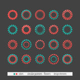 Flower circular pointers Stock Images