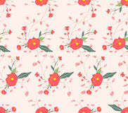 flower classic seamless floral pattern Stock Photos