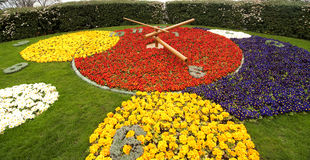 Flower clock. In Geneva, Switzerland Stock Photos