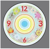 Flower clock design Stock Images