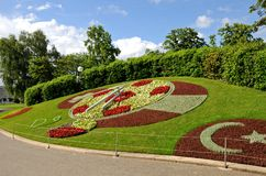 Flower Clock in Geneva Royalty Free Stock Photography