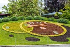 Flower clock in Geneva Stock Images