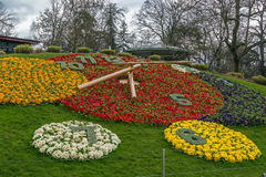 Flower Clock, Geneva, Switzerlad Royalty Free Stock Image