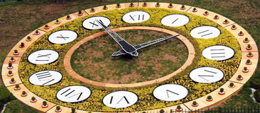 Flower clock in Kiev Royalty Free Stock Photography