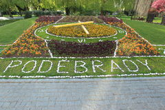 Flower clock in Podebrady Stock Photography