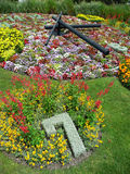 Flower Clock in the public park, geneva, Switzerland. Symbol of watch industry Stock Images
