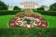 Flower clock in Vienna. City park royalty free stock photos