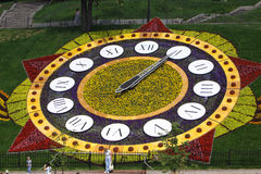 Flower clocks in Kyiv Royalty Free Stock Photography