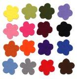 Flower color felt samples Royalty Free Stock Images