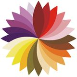 Flower color lotus silhouette for design. Vector Royalty Free Stock Photos