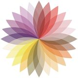 Flower color lotus silhouette for design. Vector Stock Photos