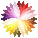 Flower color lotus silhouette for design. Vector Stock Images