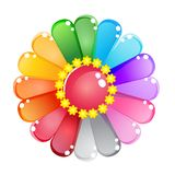 Flower Color Rainbow Glossy Jelly Icon Set. Stock Images