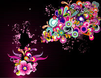 Flower color vector Royalty Free Stock Image