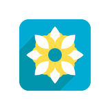 Flower, colored flat icon on a white background for design, logo. Vector illustration Royalty Free Stock Image
