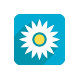 Flower, colored flat icon on a white background for design, logo. Vector illustration Stock Photo