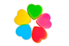 Flower of colored hearts Royalty Free Stock Photo