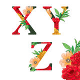 Flower colorful alphabet. Stock Photography