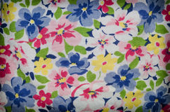 Flower colorful background, Fragment of colorful retro tapestry Stock Photography
