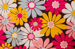 Flower colorful background, Fragment of colorful tablecloth on m Royalty Free Stock Photos