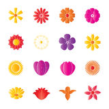 Flower Colorful Icons. Vector illustration Royalty Free Illustration