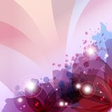 Flower in colorful ink splattered pink background Stock Photography